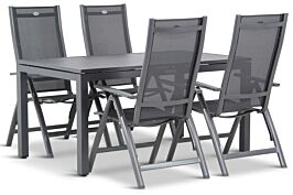 Hartman Royal Club/Concept 160 cm dining tuinset 5-delig