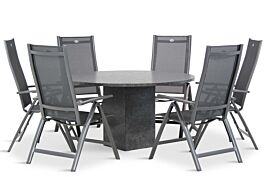 Hartman Royal Club/Graniet 140 cm dining tuinset 5-delig