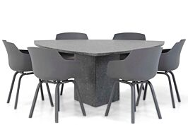 Lifestyle Salina/Graniet triangel 170 cm dining tuinset 7-delig