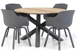 Lifestyle Salina/Fabriano 120 cm dining tuinset 5-delig