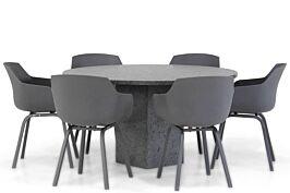 Lifestyle Salina/Graniet rond 140 cm dining tuinset 7-delig