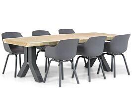 Lifestyle Salina/Woodside 240 cm dining tuinset 7-delig