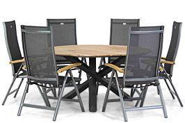 Hartman Salvatore/Fabriano 150 cm dining tuinset 7-delig