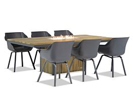 Hartman Sophie element/Seaside 240 cm dining tuinset 7-delig