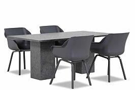 Hartman Sophie element/Graniet 180 cm dining tuinset 5-delig