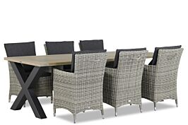 Garden Collections Springfield/Cardiff 240 cm dining tuinset 7-delig