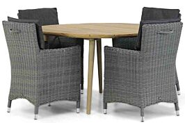 Garden Collections Springfield/Julia 120 cm rond dining tuinset 5-delig