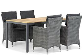 Garden Collections Springfield/Mazzarino 160 cm dining tuinset 5-delig