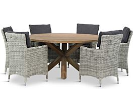 Garden Collections Springfield/Sand City rond 160 cm dining tuinset 7-delig
