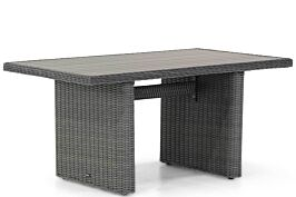 Garden Collections Toronto lounge/dining tuintafel off black  140 x 80 cm