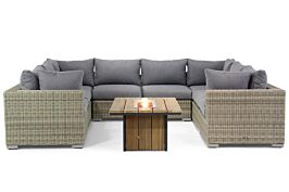 Garden Collections Toronto/Seaside 120 cm loungeset U-vorm 9-delig