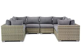 Garden Collections Toronto loungeset U-vorm 8-delig
