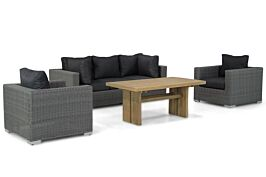 Garden Collections Toronto/Brighton 140 cm stoel-bank loungeset 4-delig