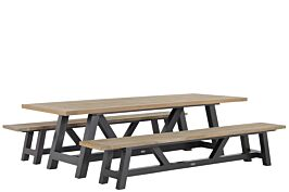 Lifestyle Trente teak picknick tuinset 260 cm