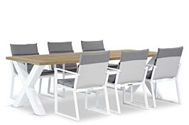 Lifestyle Treviso/Cardiff 240 cm dining tuinset 7-delig