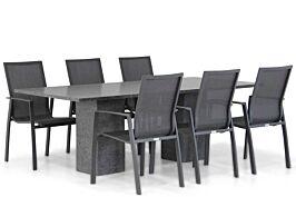 Lifestyle Ultimate/Graniet 220 cm dining tuinset 7-delig
