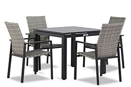 Lifestyle Upton/Concept 90 cm dining tuinset 5-delig stapelbaar