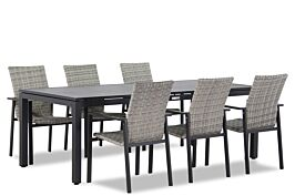 Lifestyle Upton/Concept 220 cm dining tuinset 7-delig stapelbaar