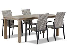 Lifestyle Upton/Bristol 180 cm dining tuinset 5-delig stapelbaar
