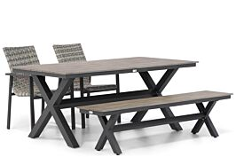 Lifestyle Upton/Forest 180 cm dining tuinset 4-delig