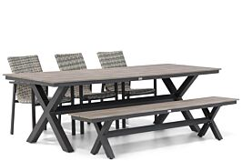 Lifestyle Upton/Forest 240 cm dining tuinset 5-delig