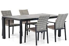 Lifestyle Upton/Lido 180 cm dining tuinset 5-delig