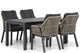 Lifestyle Verona/Concept 160 cm dining tuinset 5-delig