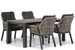 Lifestyle Verona/Valley 180 cm dining tuinset 5-delig
