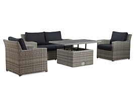 Garden Collections Giardino/Ferie 140 cm stoel-bank loungeset 4-delig