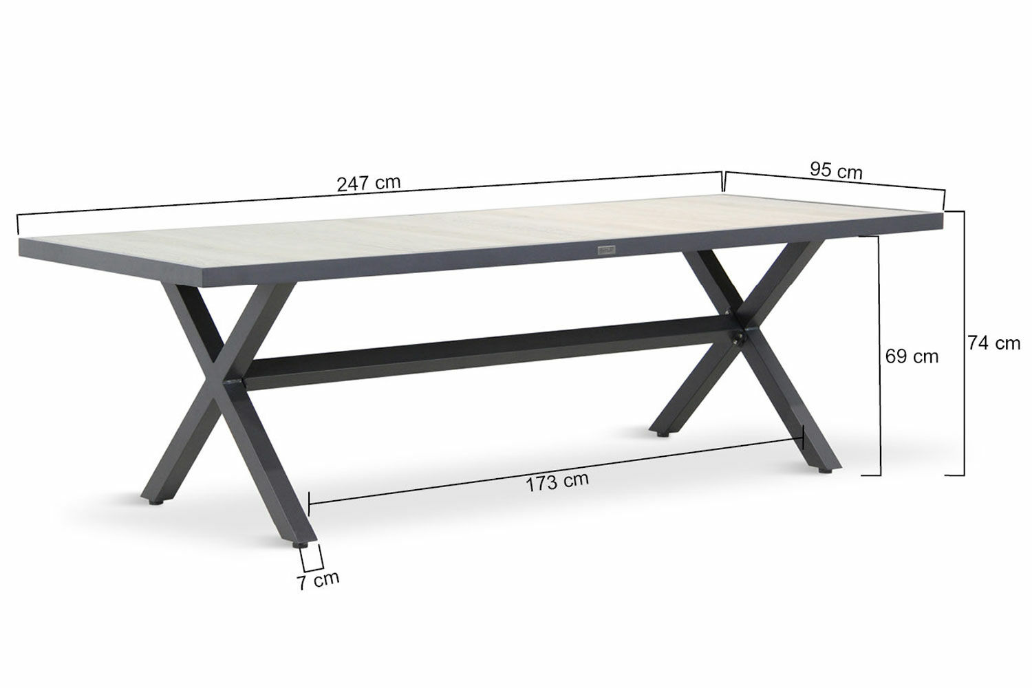 Phenomenal Hartman Canterbury Dining Tuintafel 247 X 96 Cm Gmtry Best Dining Table And Chair Ideas Images Gmtryco