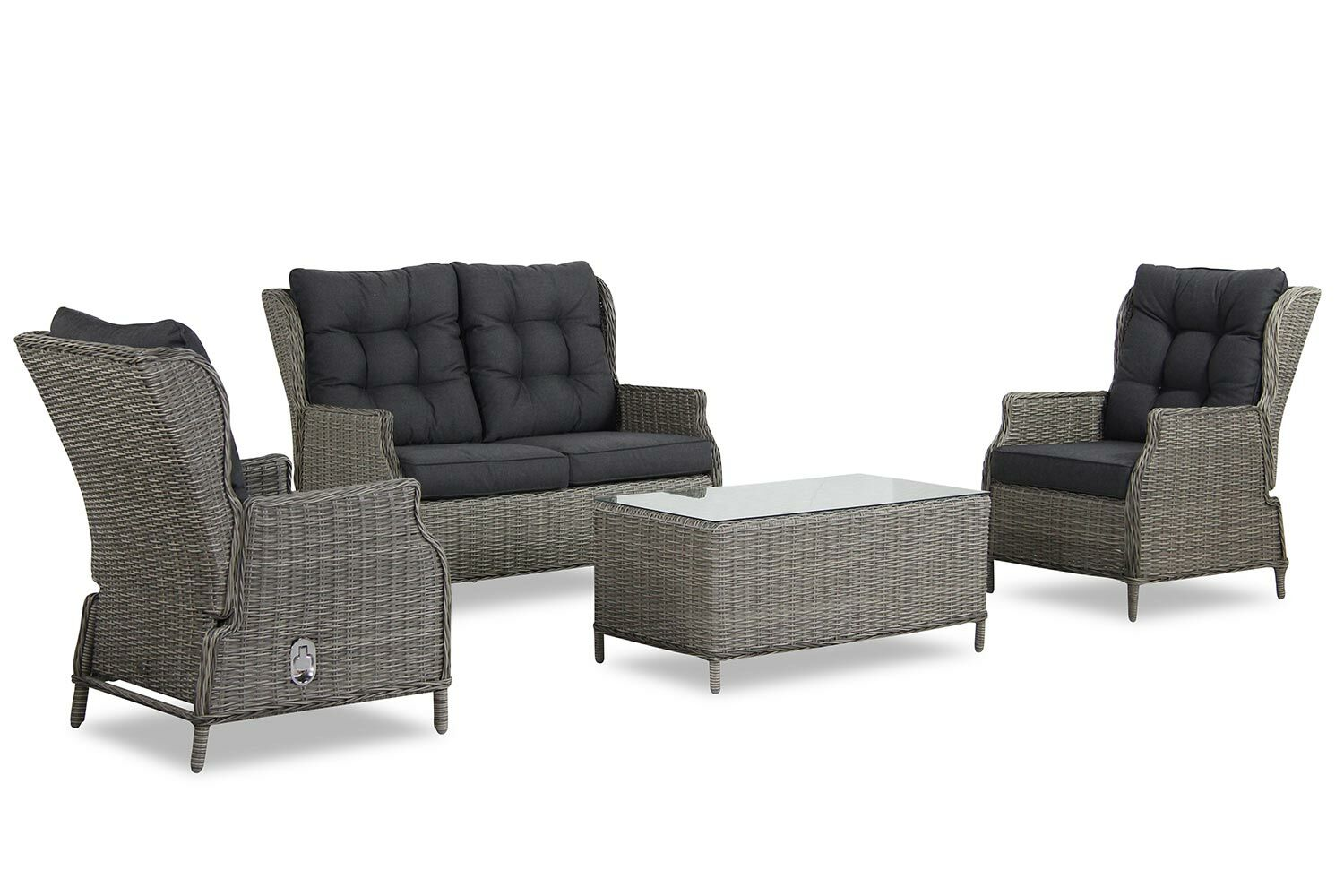 Loungeset Bank 2 Fauteuils.Garden Collections New Castle Stoel Bank Loungeset 4 Delig