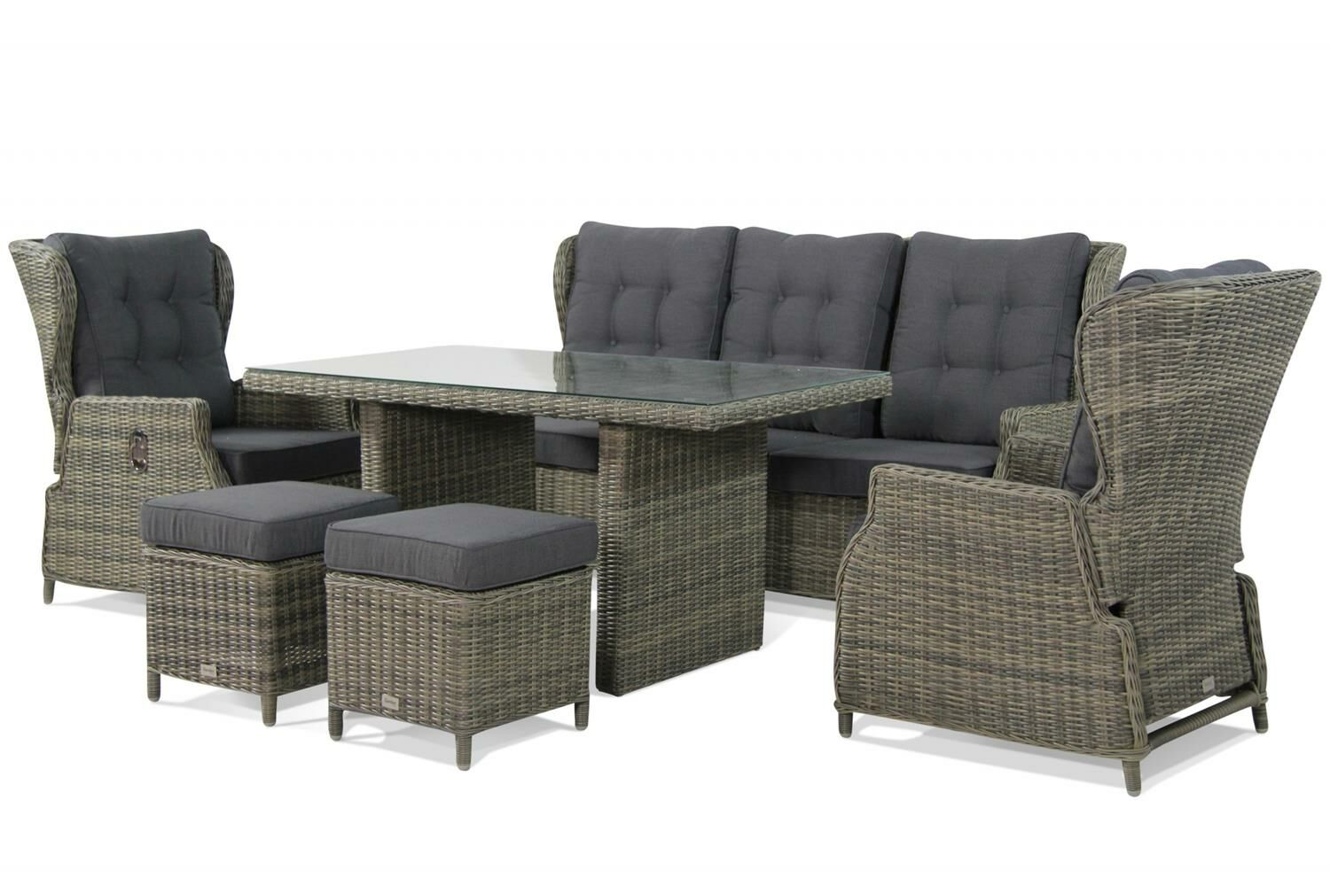 Garden collections royalty dining loungeset 6 delig tuinmeubelshop.nl