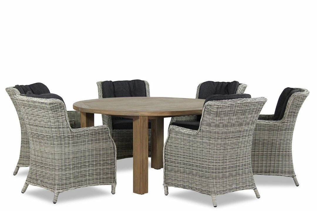 Tuinset Oxford Collection.Garden Collections Vita Oxford 150cm Dining Tuinset 7 Delig