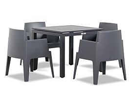 Lifestyle Box/Concept 90 cm dining tuinset 5-delig stapelbaar