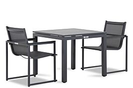 Lifestyle Delgada/Concept 90 cm dining tuinset 3-delig stapelbaar