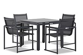 Lifestyle Delgada/Concept 90 cm dining tuinset 5-delig stapelbaar
