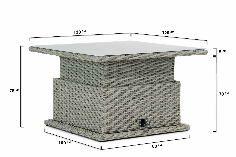 Tuintafel Met 6 Verstelbare Stoelen.Garden Collections Brampton Lounge Dining Tafel New Grey