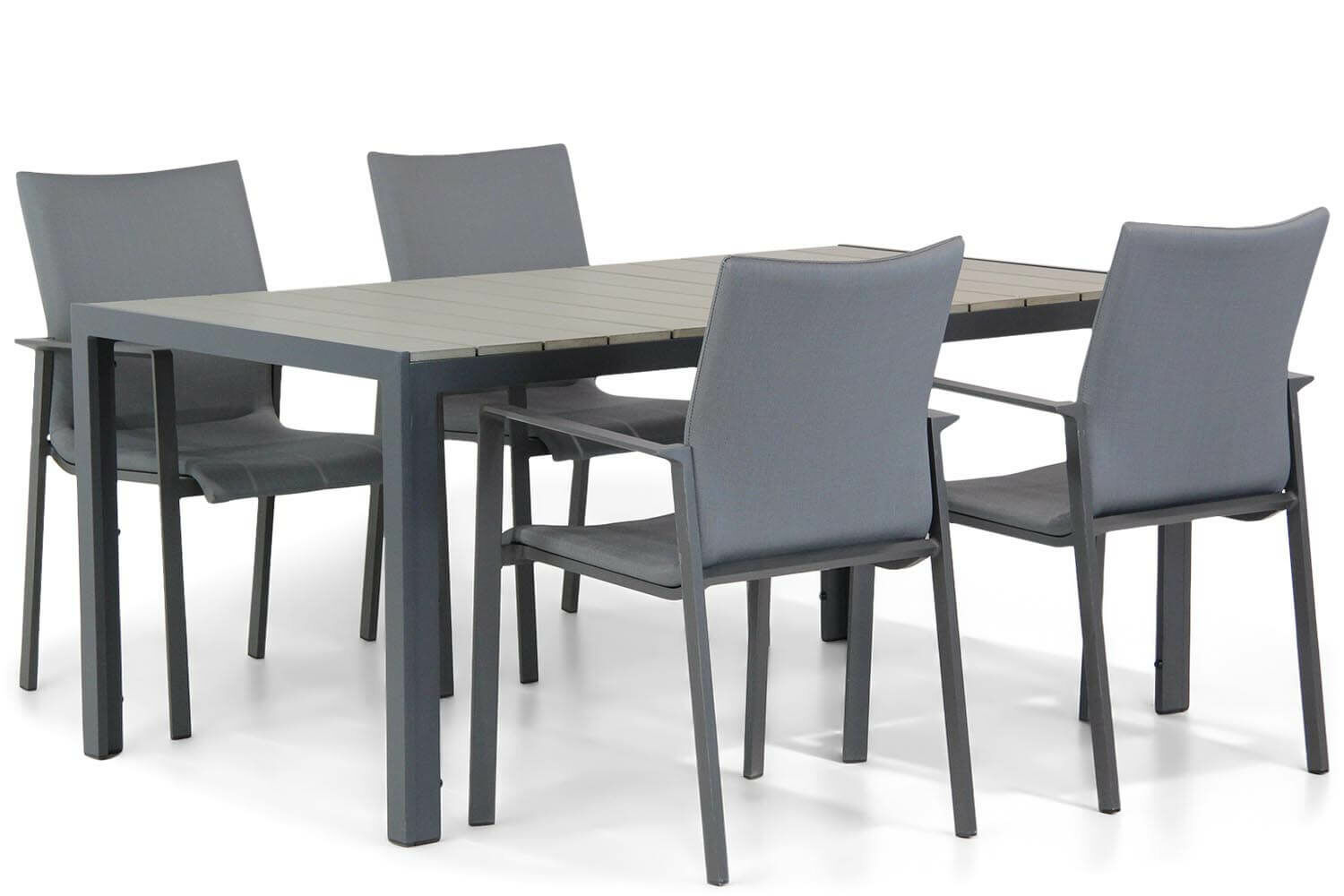 Lifestyle Rome/Poro 160 cm dining tuinset 5-delig