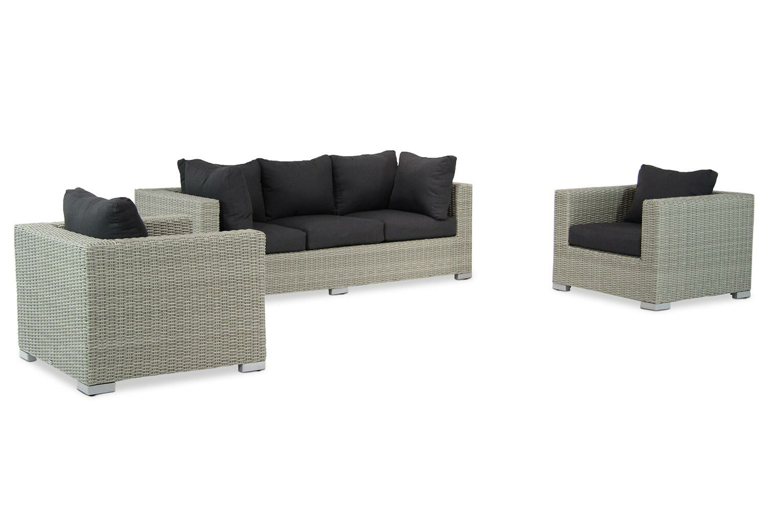 2 Stoelen En Een Bank.Garden Collections Toronto Stoel Bank Loungeset 4 Delig