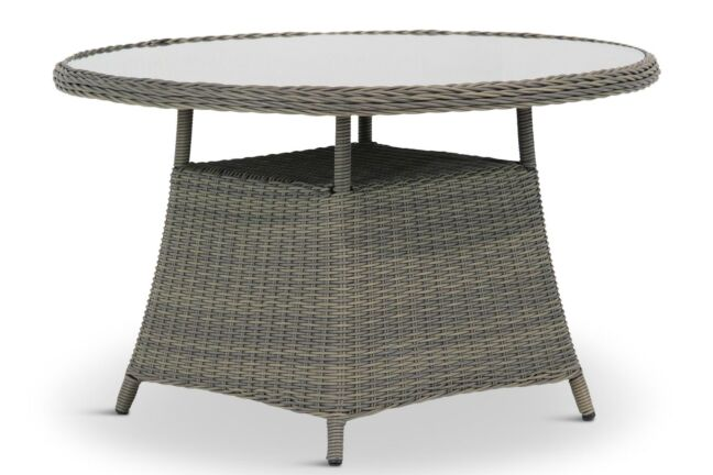 Wicker Tuintafel Rond.Garden Collections Buckingham Dining Tuintafel Rond 120 Cm