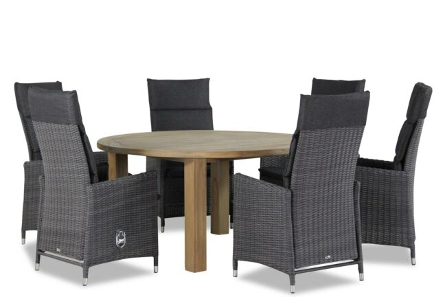 Tuinset Oxford Collection.Garden Collections Madera Oxford Rond 150 Cm Dining Tuinset 7 Delig