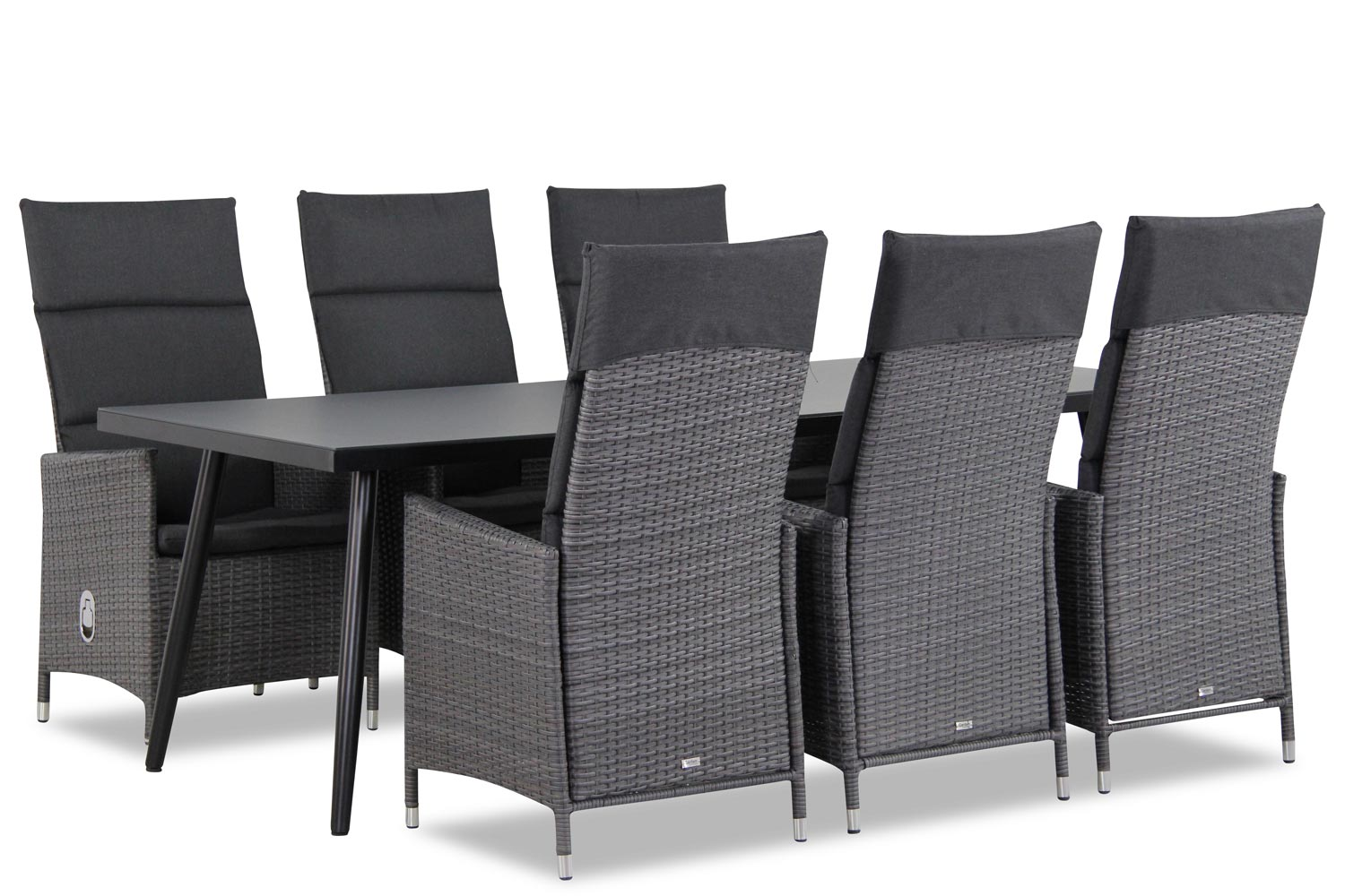 Wicker Garden Collections Denver/Cassaro 220 cm dining tuinset 7-delig