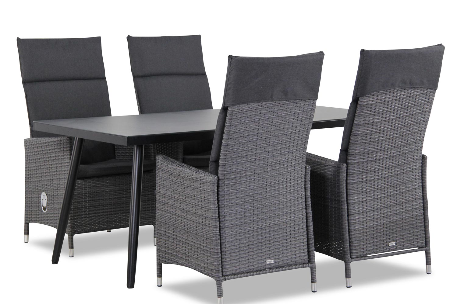 Wicker Garden Collections Denver/Cassaro 170 cm dining tuinset 5-delig