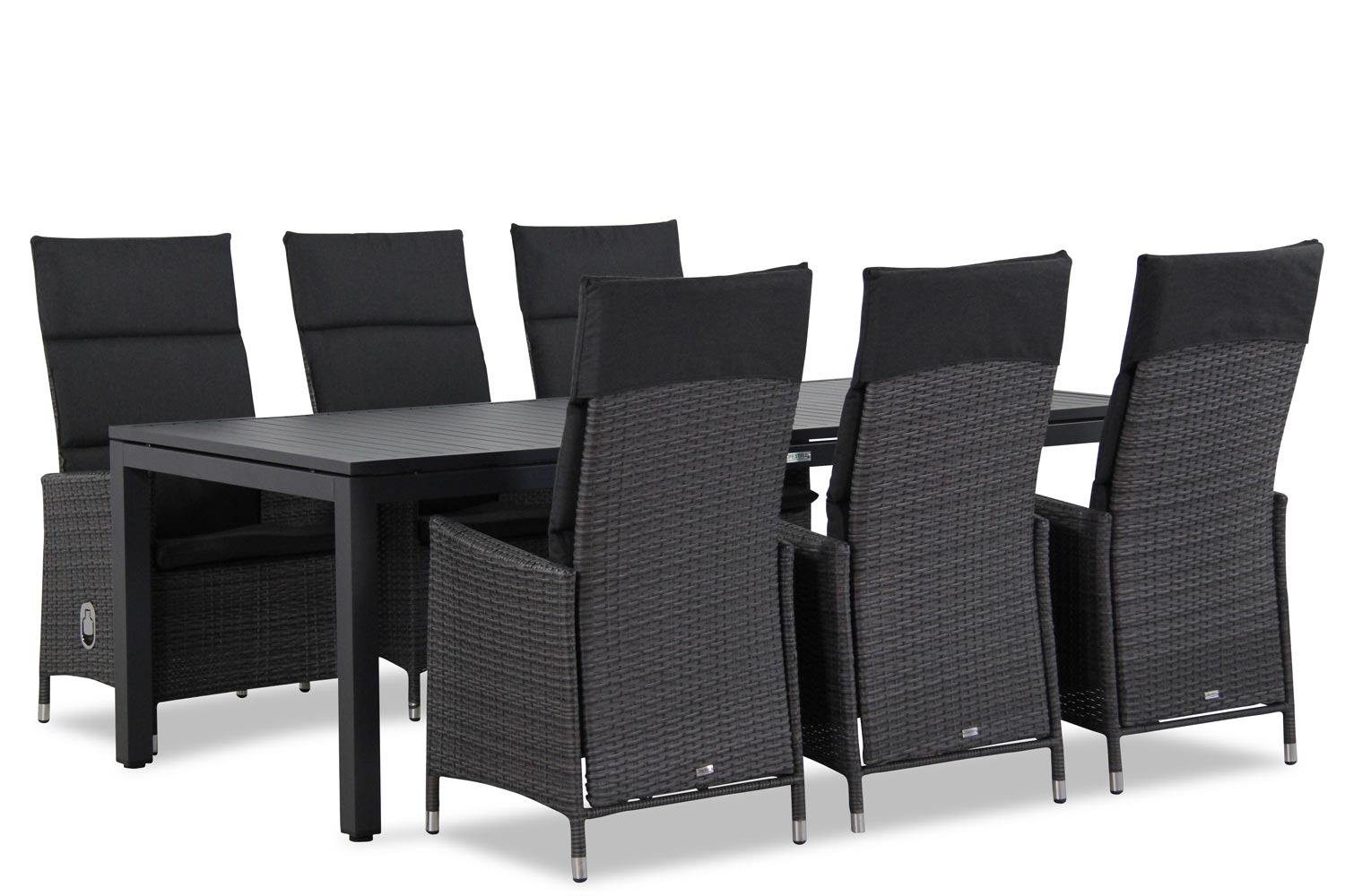 Wicker Garden Collections Denver/Concept 220 cm dining tuinset 7-delig verstelbaar