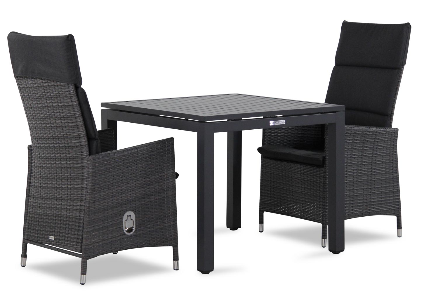 Wicker Garden Collections Denver/Concept 90 cm dining tuinset 3-delig verstelbaar