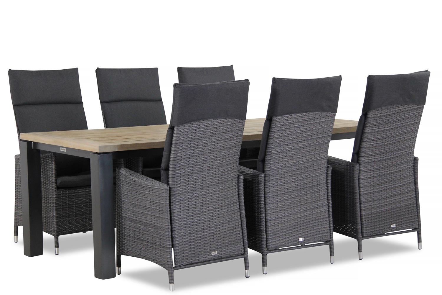 Wicker Garden Collections Denver/Veneto 230 cm dining tuinset 7-delig verstelbaar