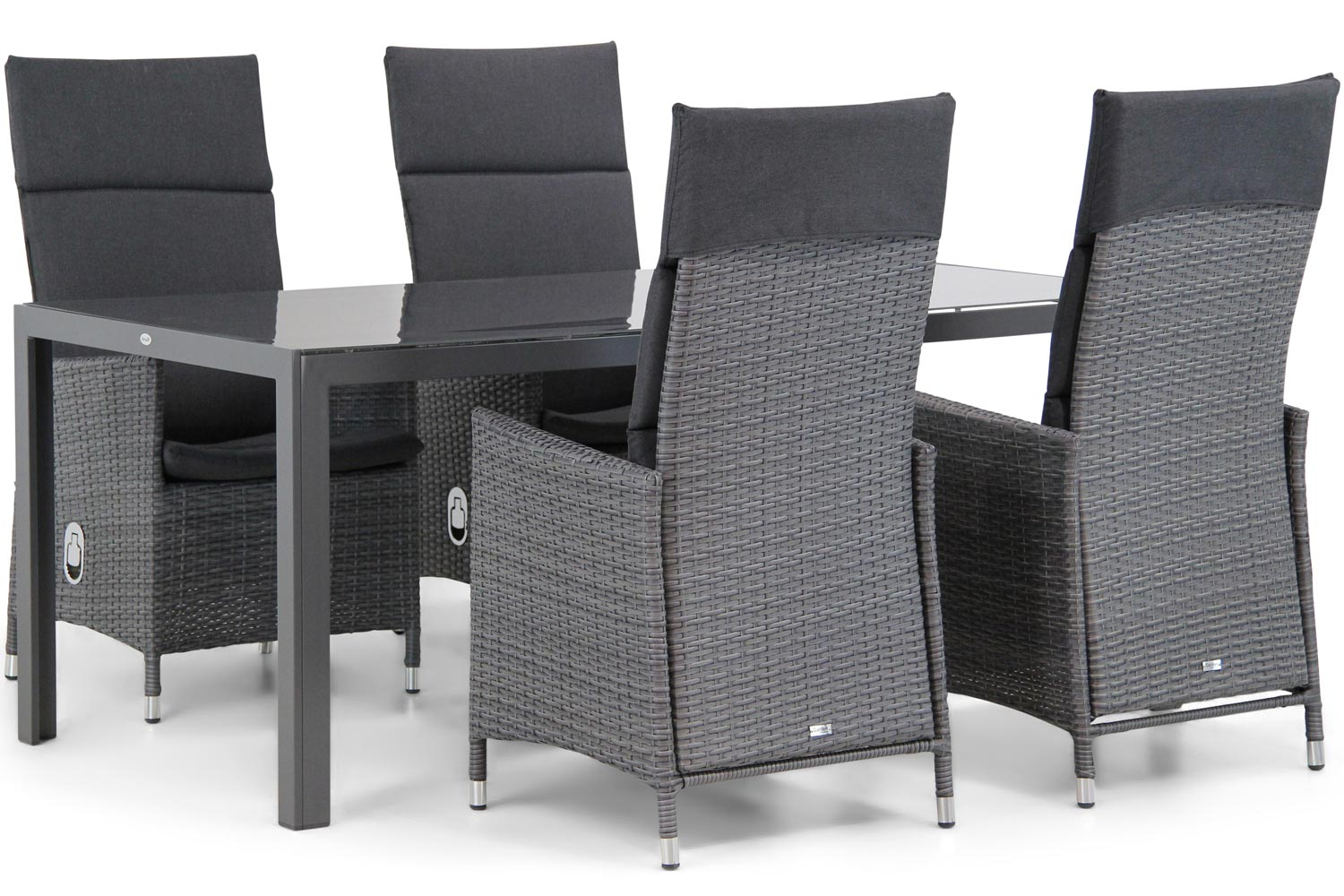 Wicker Garden Collections Denver/Canberra 180 cm dining tuinset 5-delig