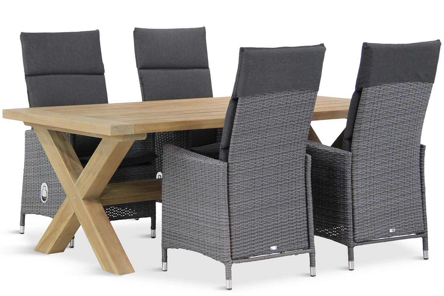 Wicker Garden Collections Denver/Oregon 200 cm dining tuinset 5-delig