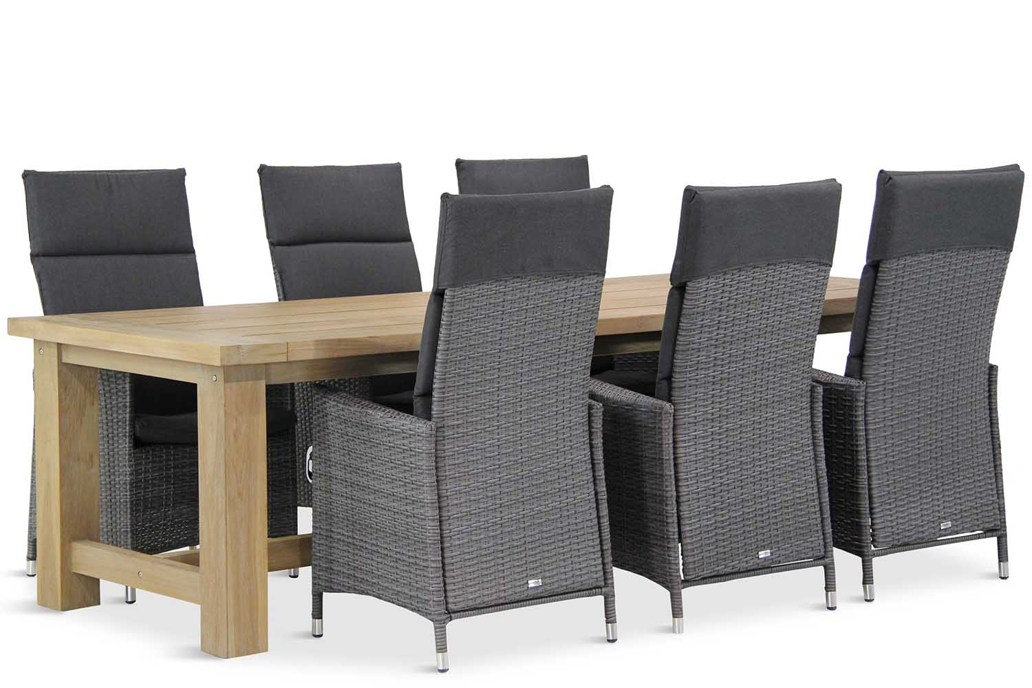 Wicker Garden Collections Denver/Fourmile 260 cm dining tuinset 7-delig