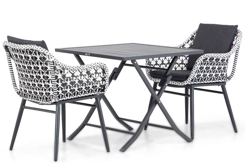 Lifestyle Garden Furniture Lifestyle Dolphin/Nicola 80 cm dining tuinset 3-delig